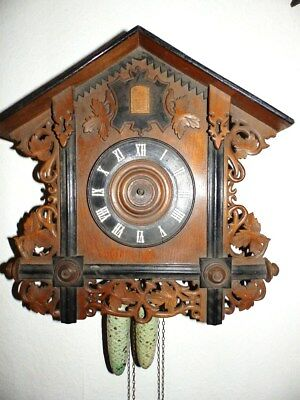 Antik Bahnhäusle Cuckoo Clock For Parts Or For A Restauration