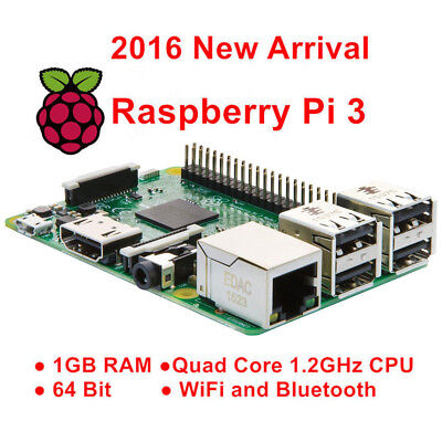 Raspberry Pi 3 Model B 1GB Quad-Core 1.2G 64-bit CPU Wifi Bluetooth Starter Kits
