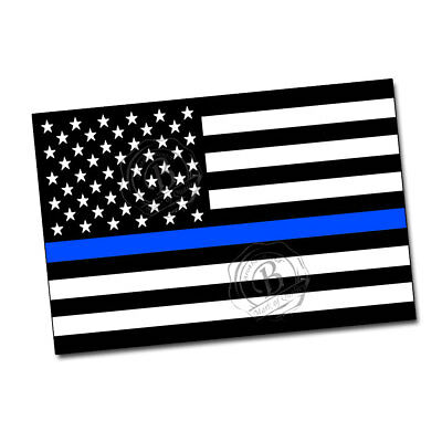 Thin Blue Line American Flag Law Enforcement Police Sheriff 24x36 Inch Poster