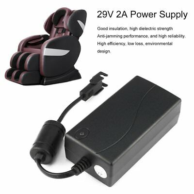 29V 2A AC/DC 2 Pin Electric Recliner Sofa Adapter Transformer Power Supply JY