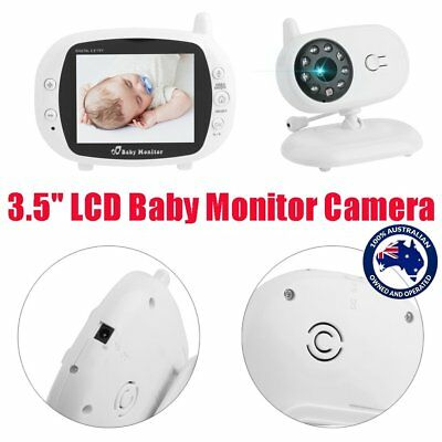 3.5'' LCD Baby Monitor Camera 2.4G Wireless Digital Audio Video Xmas Gift AU SYD