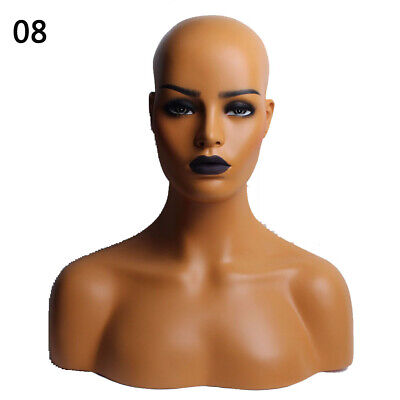 New Luxury Realistic Mannequin Head Fiberglass Hat Wig Glasses Mold Stand No.8
