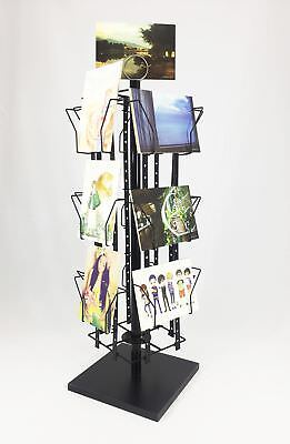 16Pocket Adjustable Card Size Display Rack Greeting Post Card Holiday Rack Stand