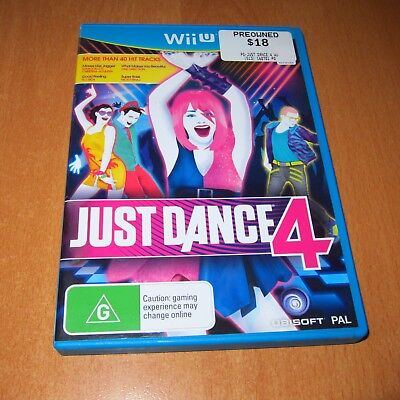 Wii U Game : JUST DANCE 4 + ( BOOKLET MANUAL ) ~ DISC LIKE NEW MINT !