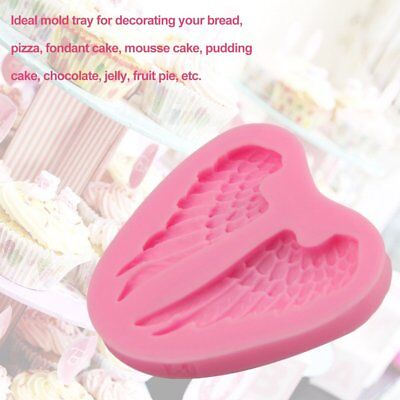Angel Wings Shape Mold 3D Silicone Cake Fondant Mold Non-Stick Decorating Too 4B