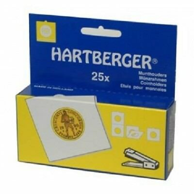 Hartberger Non adhesive coin holders - pack of 25 sizes from 15mm to 39.5mm