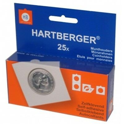Large Hartberger Self adhesive coin holders - pack of 25 sizes from 40mm to 53mm