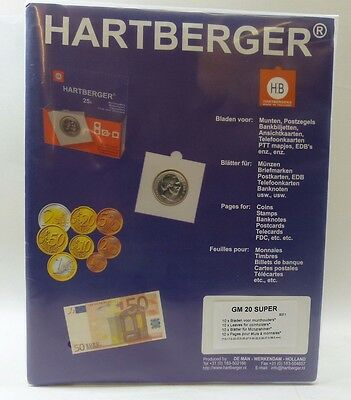 Hartberger ref 8311 clear pages for coin holders 20 pocket, SUPER  - pack of 10