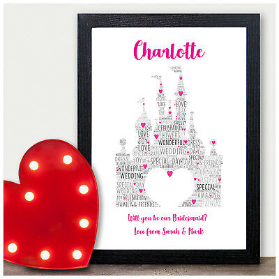 Personalised Will You Be My Bridesmaid Gifts Fairytale Princess Flower Girl Gift