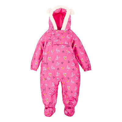 0bd4c092f477 TRESPASS JAMMY BABY Waterproof Snowsuit Girls Boys Hooded All In One ...