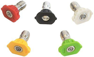 SIMPSON Cleaning 80157 Universal Pressure Washer Spray Nozzles, 3600 PSI, Set of