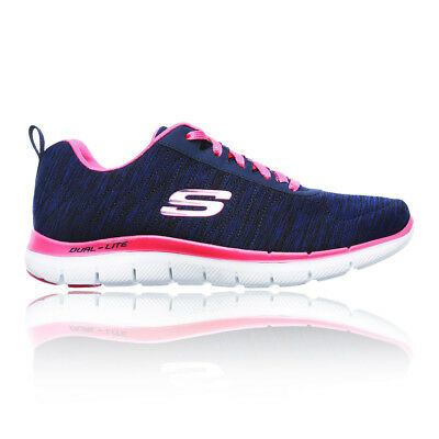 03476b801f29be Skechers Womens Flex Appeal 2.0 Running Shoes Trainers Sneakers Navy Blue  Sports