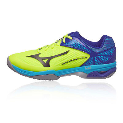 separation shoes 902cf 18e5b Mizuno Mens Wave Exceed Tour 2 Clay Court Tennis Shoes Blue Yellow Sports