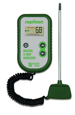 RAPITEST 3 in 1 DIGITAL pH, FERTILITY, THERMOMETER SOIL GARDEN PLANT TEST TESTER