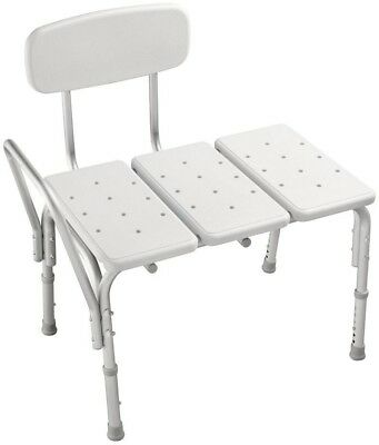 Tub And Shower Seat Transfer Bench Chair Stool Adjustable Slip Resistant Plastic