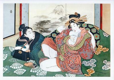 Japanese Shunga Reproduction A4 Poster Print Erotic Adult Only Theme New #2