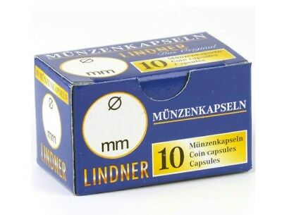 Lindner Coin Capsules - per pack of 10 choice of sizes 35mm to 50mm - new in box