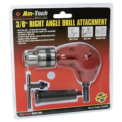 Right Angle Drill Attachment Chuck Key & Handle Adapter 3/8 DIY Accessory 90