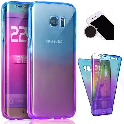 360 Front Back Full Coverage Gradient Gel Case Cover For Samsung Galaxy S7 Edge