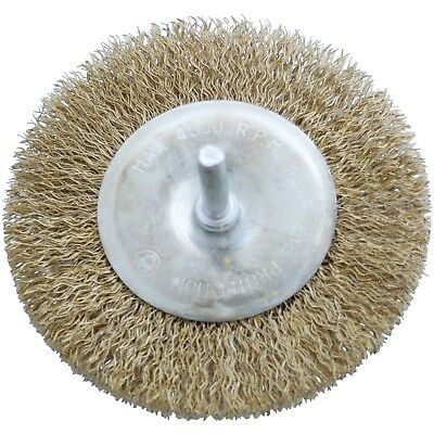 """4"""" 100mm Rotary Wire Wheel Clean Rust Paint Scale Dirt Power Drill Brush"""