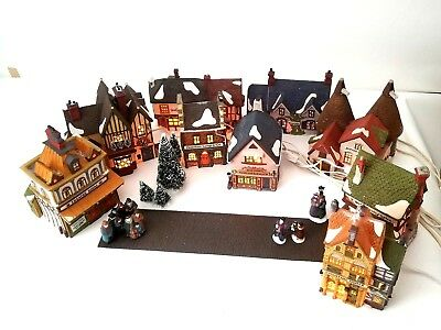 Dept 56 Dickens Village Mixed Lot Of 9 Buildings, Figurine Set, Accessories VTG