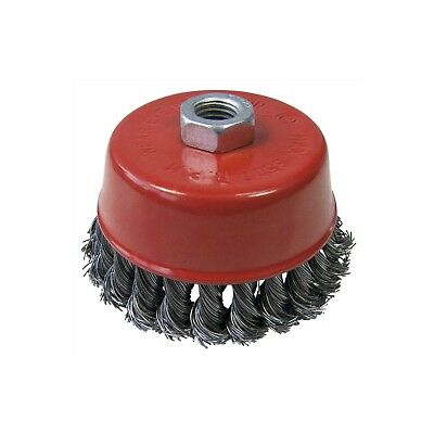 """4"""" 100mm Twist Knot Wire Cup Brush M14 Thread Angle Grinder Spinning Wheel Inch"""