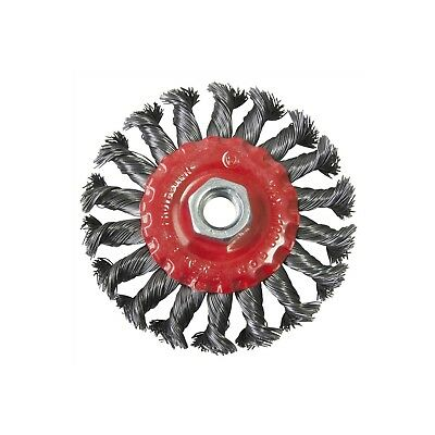 """100mm 4"""" TWIST KNOT WIRE WHEEL BRUSH FOR ANGLE GRINDER *M14 Thread*"""