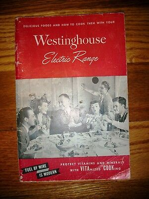 """Vintage 1945 WESTINGHOUSE ELECTRIC RANGE Manual """"Fuel by Wire"""" Book Booklet Nice"""