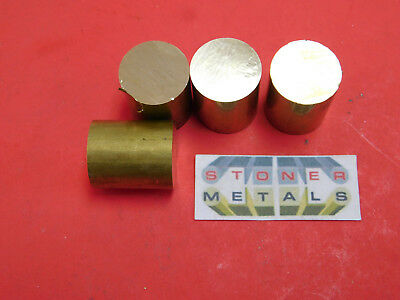 """4 Pieces 7/8"""" C360 BRASS SOLID ROUND ROD 1"""" long New Lathe Bar Stock .875"""" H02"""