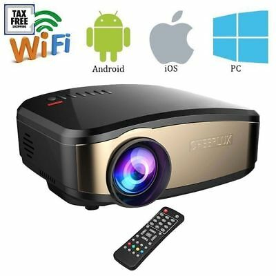 Cheerlux C6 Wifi HD Video Portable Home Theater Projector  Projecteur