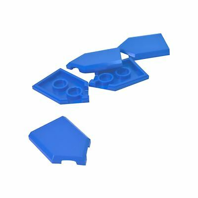 Bleu Blue Lego 22385-2x Tile modified 2x3 pentagonal NEW