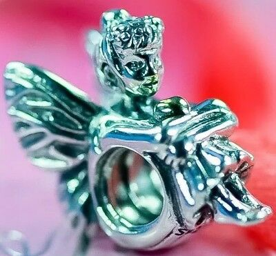 Authentic PANDORA Silver 14ct.Gold PIXIE Fairy Angel Bead Charm S925 ALE