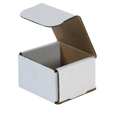 Pick Quantity! 1-500 3x3x3 White Small Folding Mailing Corrugated Box Light