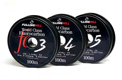 Fulling Mill World Class Fluorocarbon Tippet  - NEW 2018 Stock - 100m