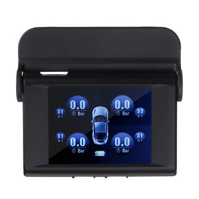 TPMS Type Pressure Monitor System Auto Solar Energy Power 4 External Sensors