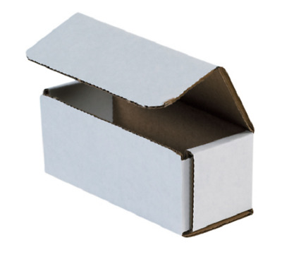"Pick Quantity! 1-500 5x2x2"" White Corrugated Mailer Small Folding Box Light Ship"