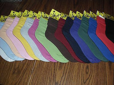 Women Slouch Socks Athletic U-Choose From 18 Colors Nwt  Free Shipping Made Usa