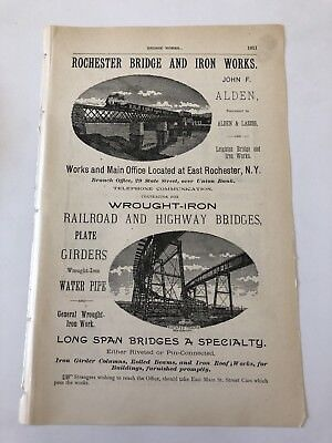 1890 Rochester Bridge And Iron Works Railroad Rochester NY Advertisement #B-30