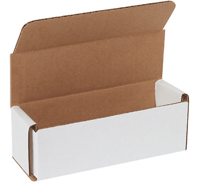 Pack of 25 Strong Corrugated Mailer 6x2x2 White Square Folding Mailing Boxes