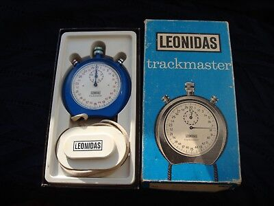 Vintage Leonidas trackmaster 8042 blue stopwatch  fully working