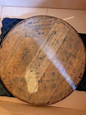 100% Authentic Jack Daniels Tennessee Bourbon Whiskey Barrel Head