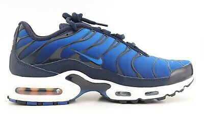separation shoes d62a6 5d557 New NIKE AIR MAX PLUS TN ObsidianItaly Blue Royal White Shoes 852630-
