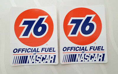 PAIR Union 76 Official Fuel NASCAR vintage New contingency racing Stickers NOS