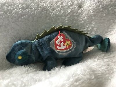 """Rare """"Iggy"""" Chameleon Beenie Baby - WITH TAGS"""