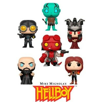 Funko POP Hellboy Figure - Mignola, Abe Sapien, Rasputin, Liz, Lobster Johnson