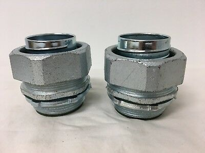 """(LOT OF 2)1-1/2"""" Malleable Iron Liquidtight Straight Insulated Connector SLT31T"""