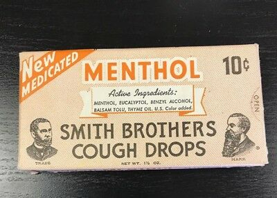 Smith Brothers Cough Drops Menthol very early 1960's and nice clean condition