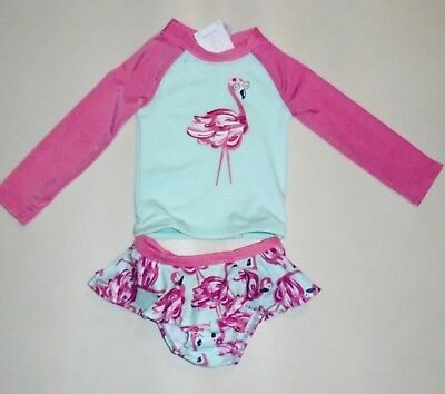 Gymboree Girls Flamingo Rashguard Swimsuit  6-12 18 24 2T 3T 4T 5T NWT