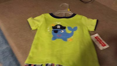 Boys 2 Pc Shorts And  Shirts 6-9 Mo Nwt By Fisher Price