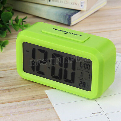 US Digital LCD Snooze Electronic Alarm Clock with LED Backlight Light Control DG